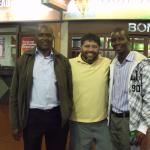 Nairobi Airport with Sammy & Joshua