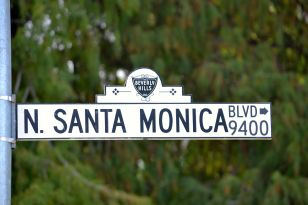 Santa Monica Blvd. Sign