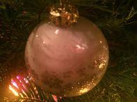 Milk Glass Ornament