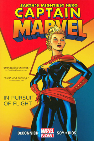 Cover of Marvel's Captain Marvel vol. 1 with Carol Danvers