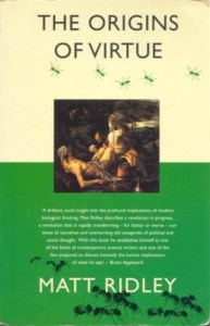Cover of The Origins of Virtue by Matt Ridley