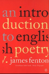 Cover of An Introduction to English Poetry by James Fenton