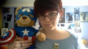 Me and my Captain America bear, suited up