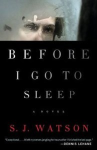 Cover of Before I Go to Sleep by S.J. Watson