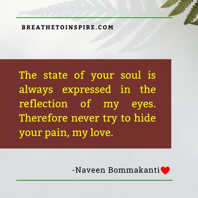 the state of your soul
