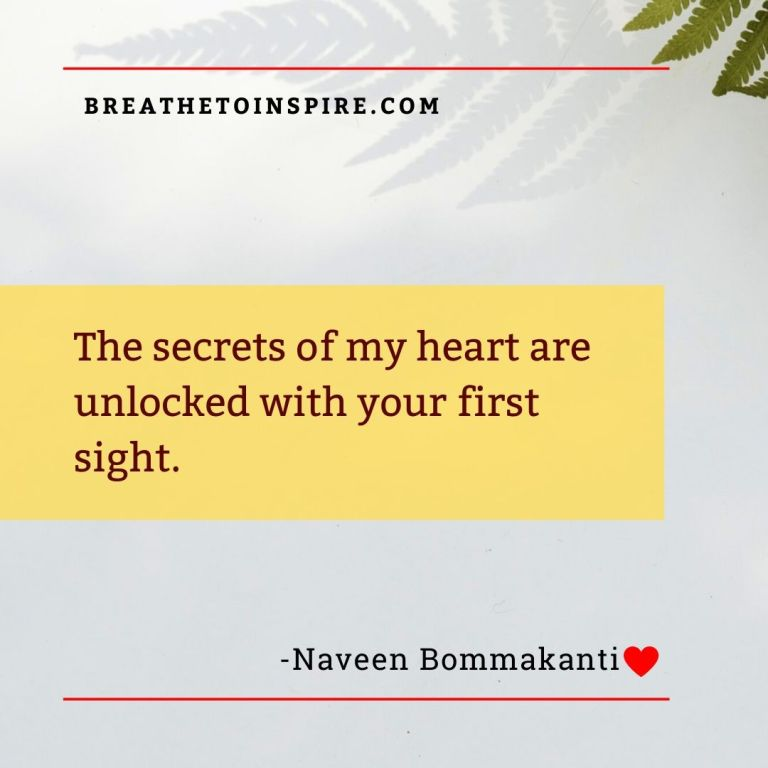 the secrets of my heart