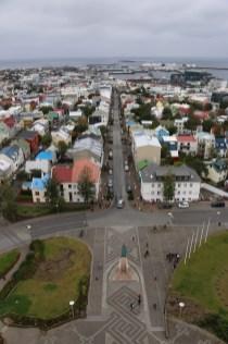 Reykjavík downtown from Hallgrímskirkja