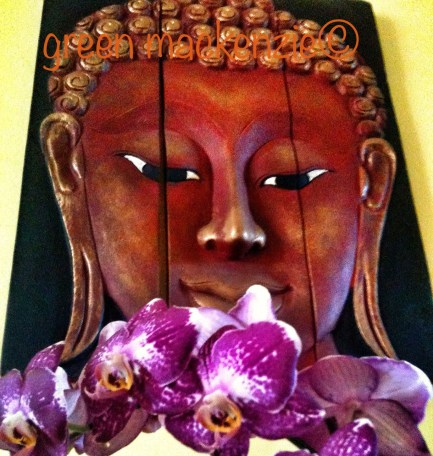 Buddha and Orchids