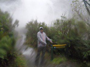 The water was coming down so hard that the GoPro couldn't even take good pictures
