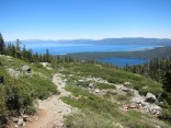 On the way down with views of Lake Tahoe and Fallen Leaf Lake