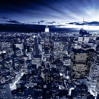 New York in blue