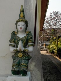 At a wat in the old city.