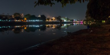 The Ping River at night. Very close to our hotel.