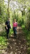 Walking in the farm woodlands