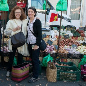 Shopping for fruit and vege with Sian