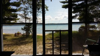 view of the lake from the cottage