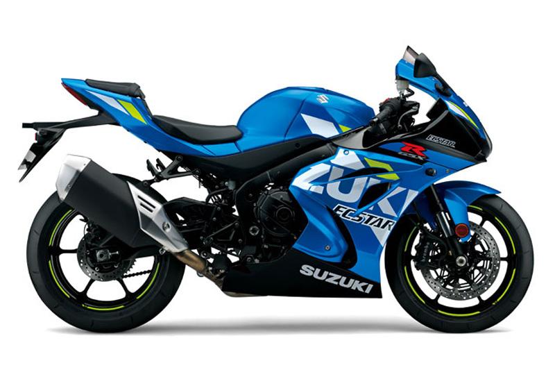 Suzuki GSX-R in blau schwarz