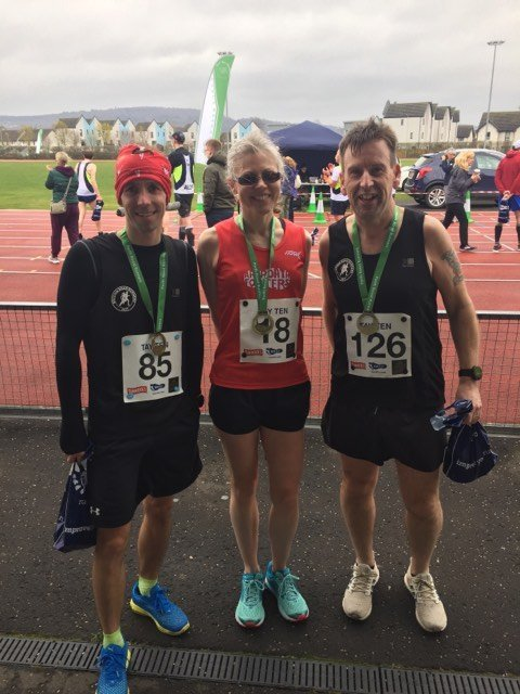 Barry, Pauline and David after the race