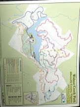 Map of the Walnut Creek Park bike trails.