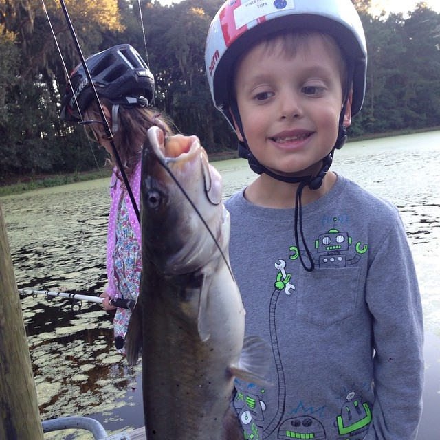 Not bad for his first ever fish! Catfish!