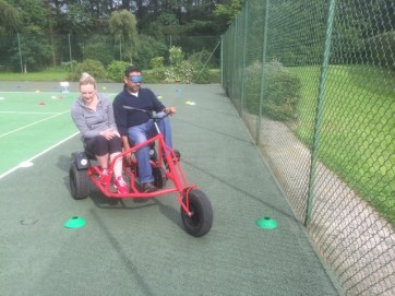 Trikes with blindfolds