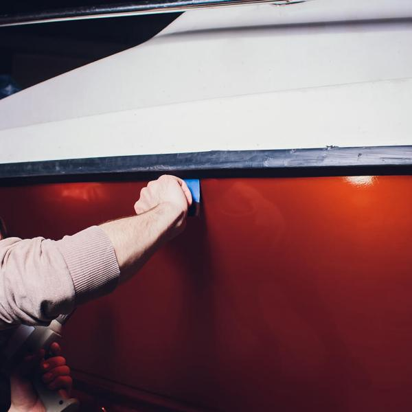 Båddekor – Bådfolie montering