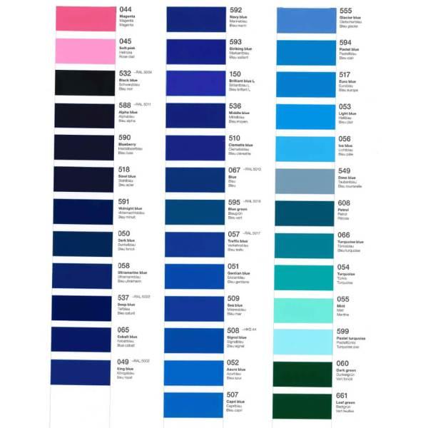 Båddekor – Bådfolie Farveeksempler blå