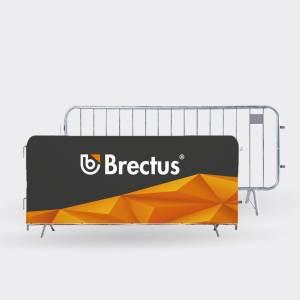 Bannerovertræk til arrangementshegn fra Brectus