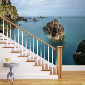Fototapet af trappe - motiv havudsigt