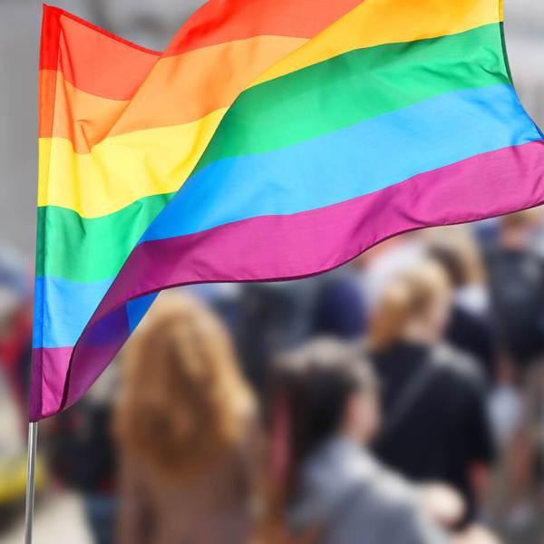 Supporter- eller Balkon - Altan flag Pride