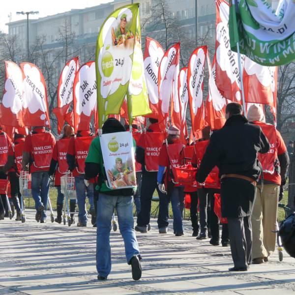 Supporter- eller Balkon - Altan flag i miljø