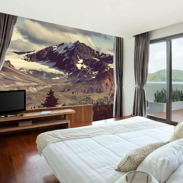 Fototapet til alrum - Motiv bjergtoppe