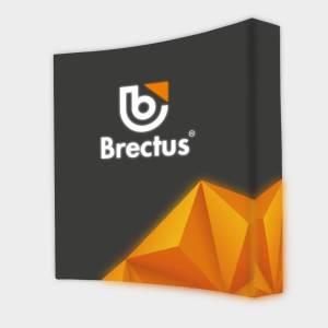 Messevæg Pop-up buet LED fra Brectus