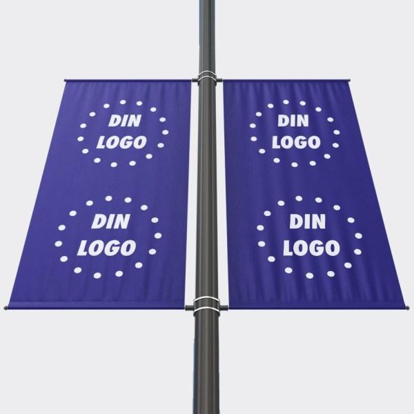 Bannerarm Stolpe, Stolpeflagg, Stolpebanner, gate flagg, Bannerflagg, Lyktestolpeflagg, Gate banner, Stolpeflagg