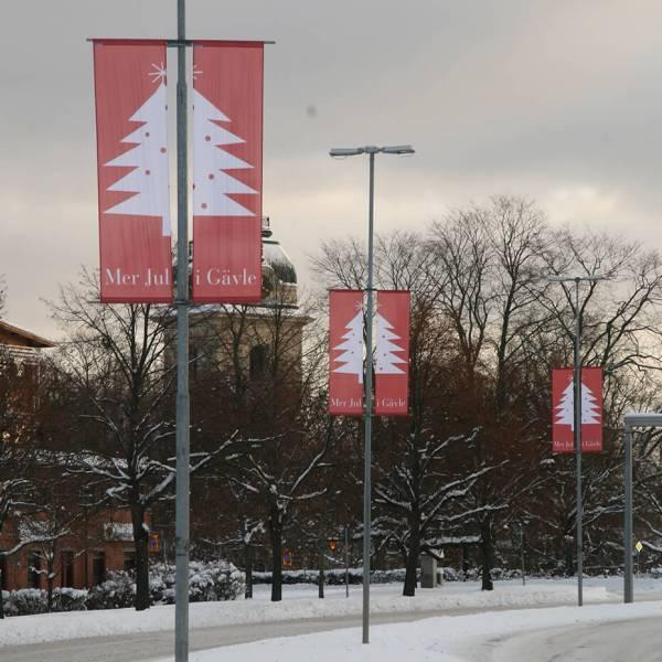 Bannerholder Stolpe miljø vinter