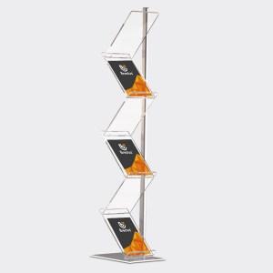 brosjyrestativ, z formet brosjyrestativ, tripp trapp brosjyrestativ, Brosjyrestativ ZigZag, sammenleggbart brosjyrestativ