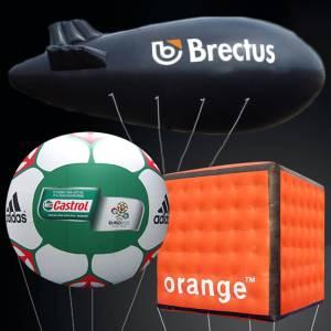 Heliumprodukter, heliumballong, reklamebudskap, helium luftballong, produktlanseringer, oppblåsbare, luftskip, produktlanseringer, PVC Helium,