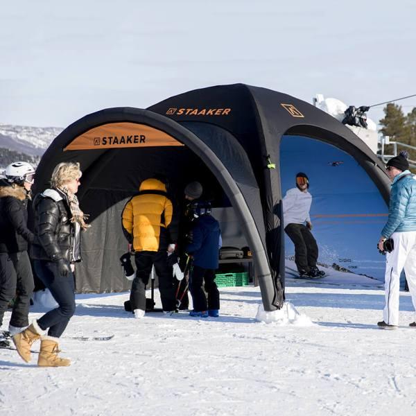 oppblåsbart Quick-up telt fra Brectus 5