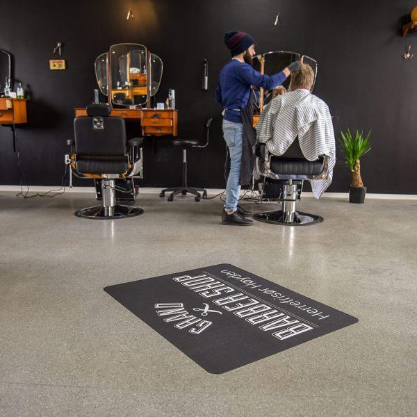 gulvfolie, folie på gulv, gulvreklame, gulvdekor, reklame på gulv