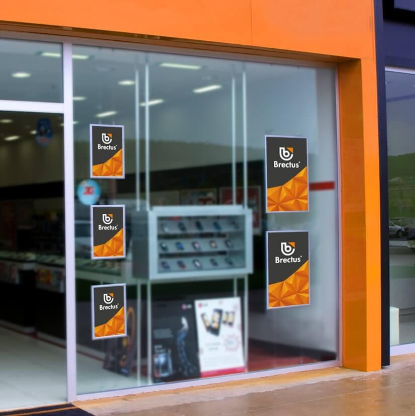 Plakatramme for vindu kjøpesenter bilde