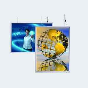LED lysboks tosidig, lysramme, lysskilt, dobbeltsidig, lysplakat, Led ramme