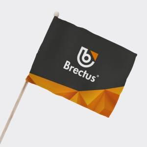 Brectus Balkong och supporterflagga