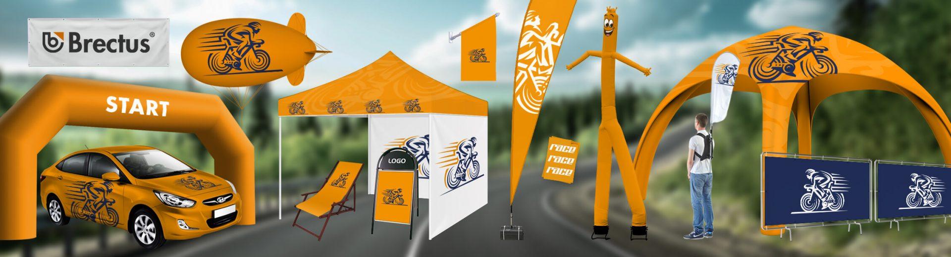 Cykellopp Brectus Arena Reklame