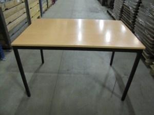 120x80 4-poot tafel zwart beuken
