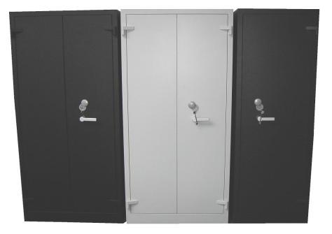 Brandkast 2 deuren  en 1 deur