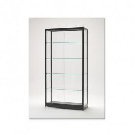 vitrinekast_200x100x40cm_zwart_gepoedercoat_vd_kantoor