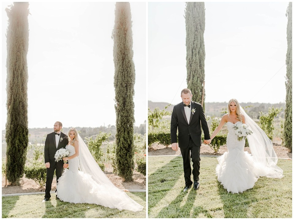 bridal portraits at an avensole winery wedding in temecula, CA