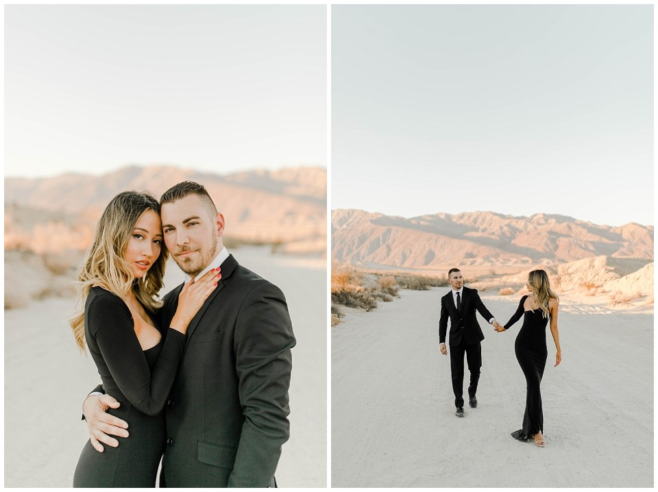 engagement photography session in the desert