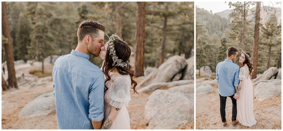romantic engagement session at big bear lake