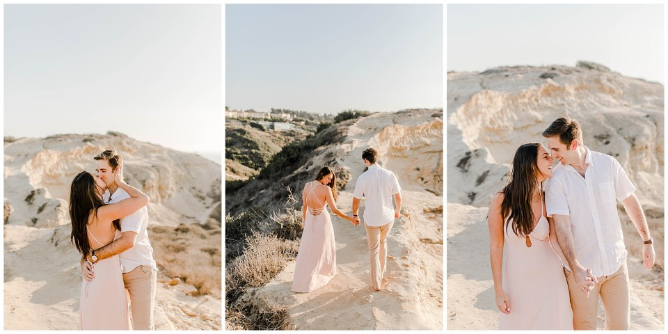 la jolla cliffs engagement photography session